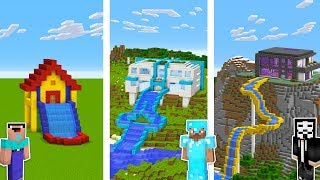 minecraft-noob-vs-pro-vs-hacker-water-slide-house-challenge-in-minecraft-animation
