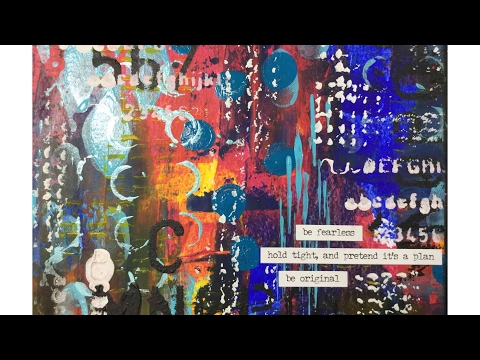 Art Journal Prompts Week 24 - Graffiti/Grunge/Urban Style Mixed Media Art Journal Page Tutorial