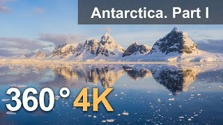 360°, Antarctica. Part I. 4K aerial video