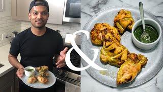 Roast Chicken with Cilantro-Mint Chutney | F&W Cooks