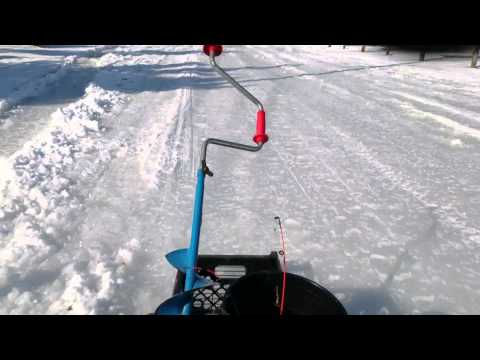 Homemade motorized ice sled