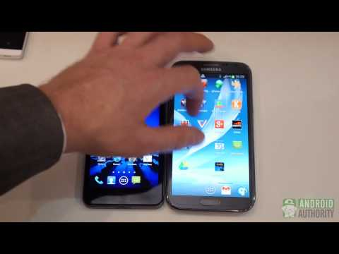 ASUS Padfone Infinity vs Samsung Galaxy Note 2