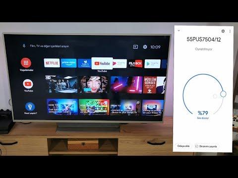 Android TV'yi Telefona Bağlamak (Philips 55PUS7504)
