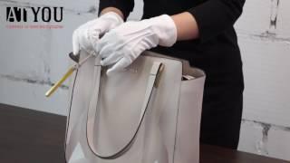 Обзор светло-серой женской классической сумки марки Cromia