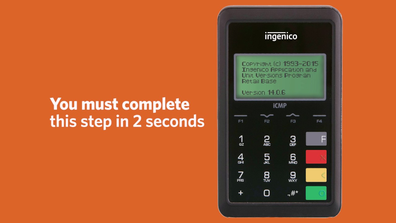 8 VM Ingenico iCMP Set to USB Mode