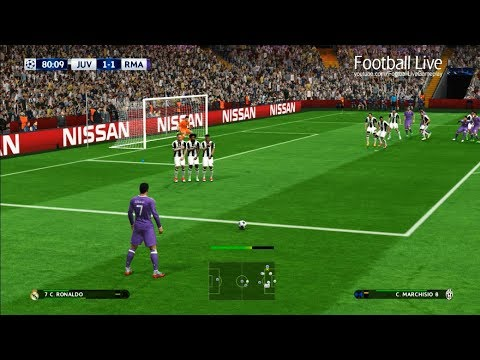 PES 2017 | Juventus vs Real Madrid | 2 Free Kick Goal C.Ronaldo | Final UEFA Champions League (UCL)