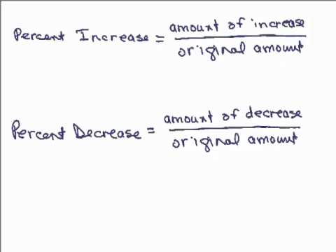 Percent Increase and Percent Decrease (with videos, worksheets ...