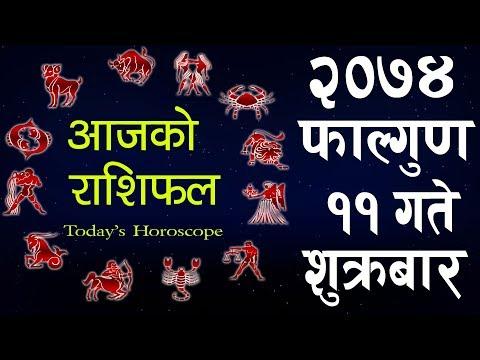 Aajako Rashifal 2074 FALGUN 11,Today's Horoscope, February 23, Friday
