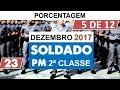 Prova Soldado Pm de 2º classe PMSP Vunesp 2017 Dezembro Questão 23 Porcentagem 3 de 12
