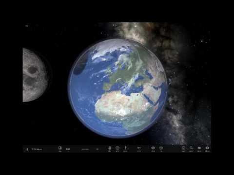 moon crashing into earth (realtime) / universe sandbox
