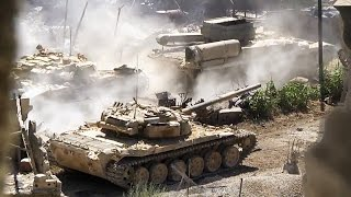 ᴴᴰ Tank with GoPro ␤ gets multiple Hits in Jobar Syria *subtitles*