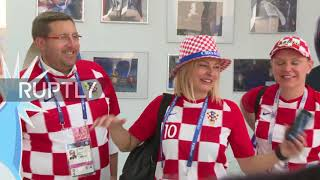 Russia: Jersey-clad Croat President takes Sochi tour before Russia clash