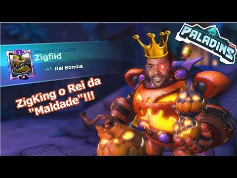 """ZigKing da Maldade"" Bomb King Gameplay [Paladins] Omega Play"