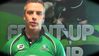 Padraig Joyce says Front Up, Rise Up for Connacht Rugby