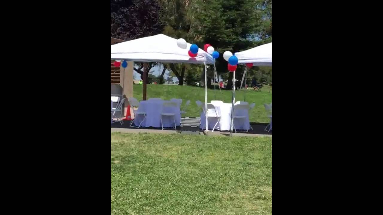 Canopies/tent 10u0027 x 10u0027 + Round Tables + Onsite Balloons Decorations | Good Events 510.254.7921 : decorating a canopy tent - memphite.com