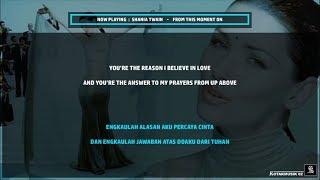 SHANIA TWAIN - 'FROM THIS MOMENT TO' Lyrics (SUB INDO)