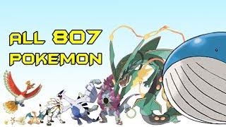 All 807 Pokemon in 15 Minutes (Size Comparison)