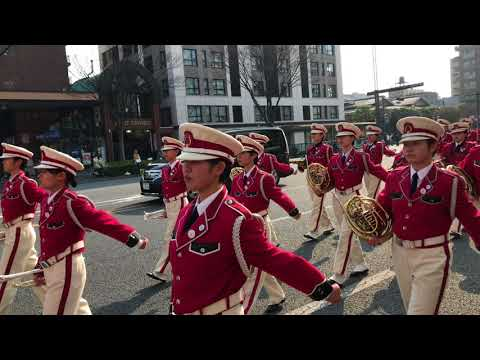Waseda Setsuryo High School Wind Band - 2018 Kyoto Sakura Parade Oike Blvd. さくらパレード2018 早稲田摂陵高校吹奏楽部