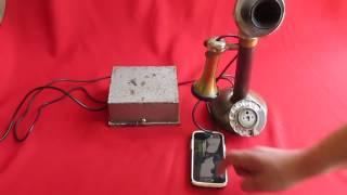 Antiguo Telefono Candlestick,Original,1920 Funcionando Full