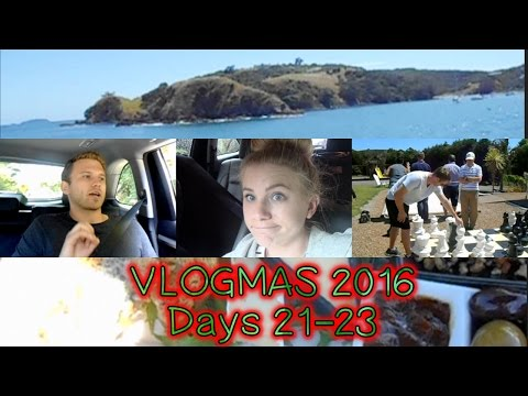 WE'RE TRAPPED! Flat tire and Wild on Waiheke - VLOGMAS 2016: Days 21-23