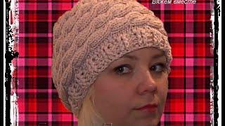 женская весенняя шапка косами !!! - Women's spring hat braids !!!