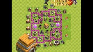 Clash of Clans - Rathaus 6 Verteidigungs Base (1 Luftabwehr)