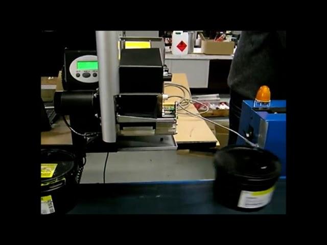 Εκτυπωτής NOVEXX XLP 504 με applicator LTSA σε κίνηση Κιοκπάσογλου L.I.T. Solutions