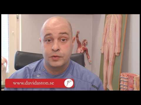 Presentation av sjukgymnast i Malmo; David Aston