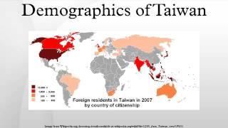 Demographics of Taiwan