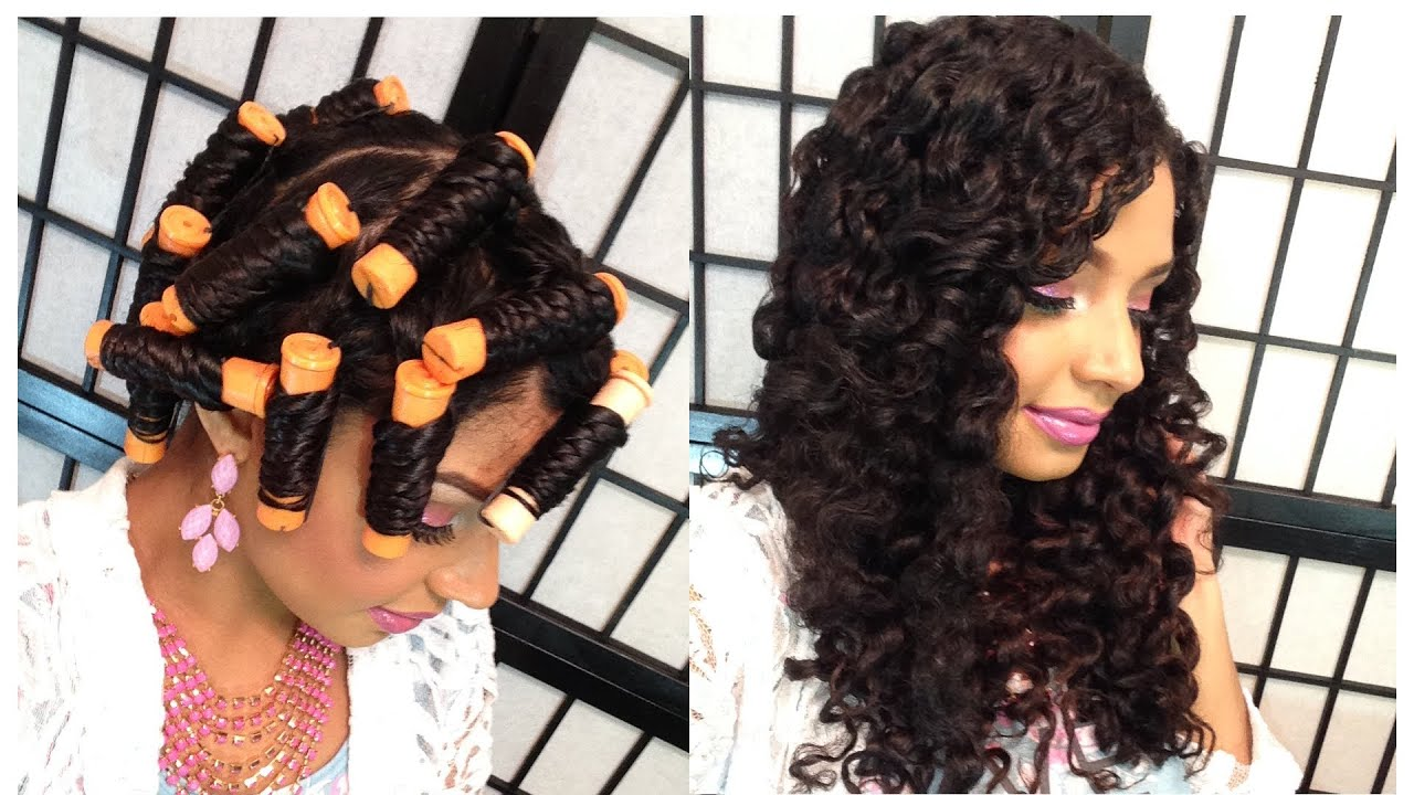 Twist Out Using Perm Rods Tutorial - YouTube