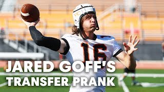 Download NFL QB Jared Goff Pranks Unsuspecting College Football Team Mp3 and Videos