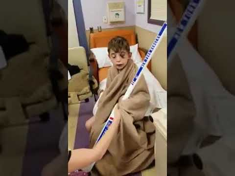 VIDEO: First Smile For Boy In Paramus School Bus Crash Comes From NYRangers