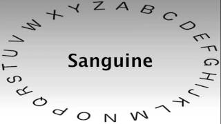 SAT Vocabulary Words and Definitions — Sanguine