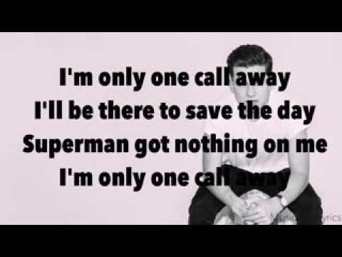 Lirik (Liric)  Lagu Charlie Puth - One Call Away