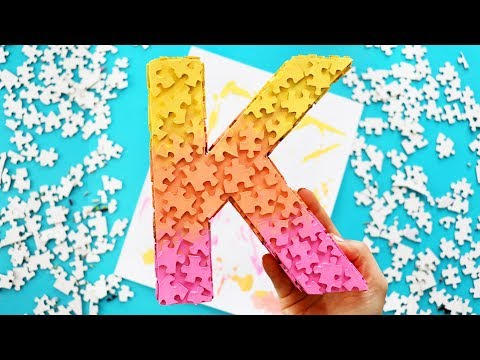 How to make a Jigsaw Puzzle Piece Letter (easy DIY)