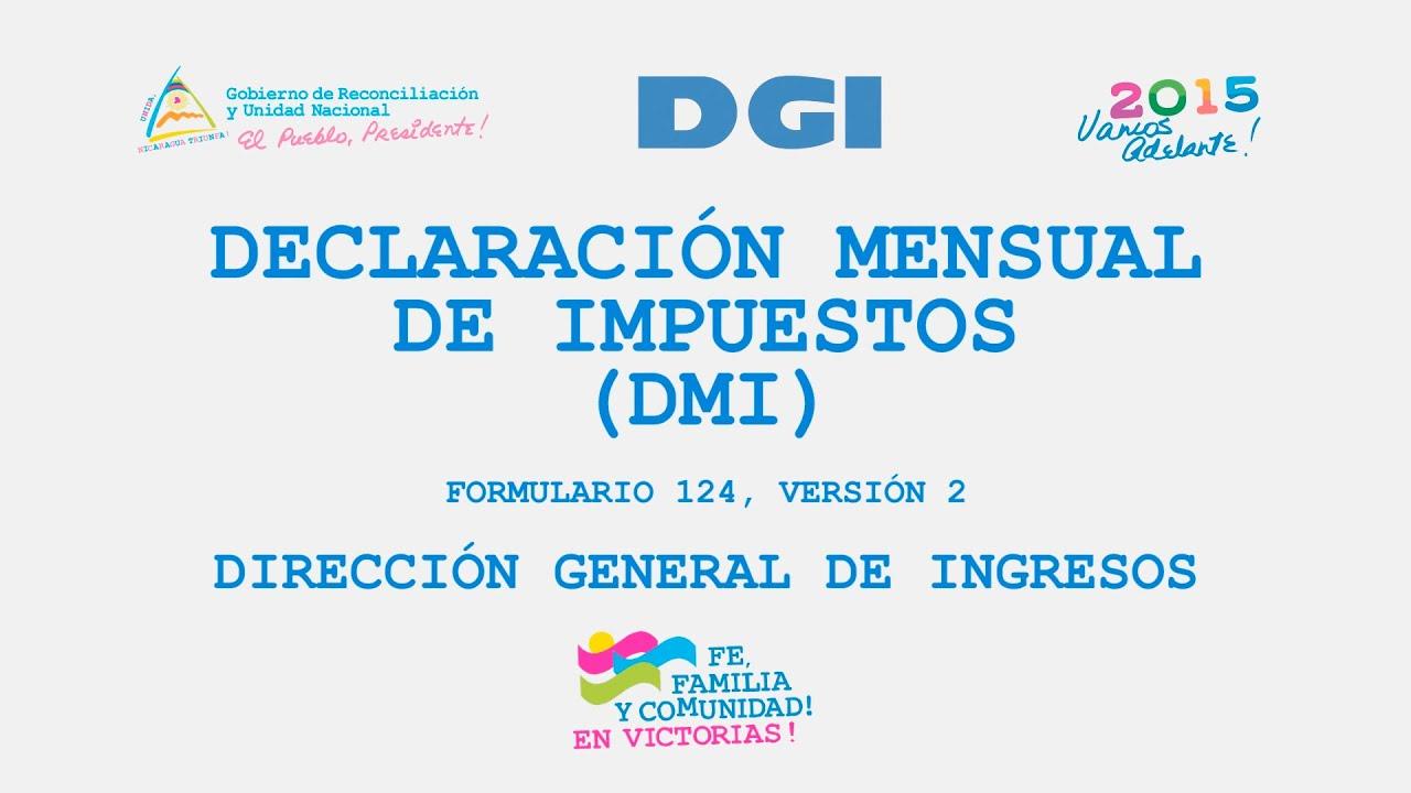 DECLARACION MENSUAL DE IMPUESTOS DMI - (DGI) V.2 - YouTube