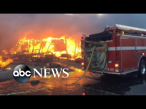 Download Youtube: Thousands of firefighters battle 6 major wildfires