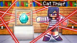 Playing Minecraft But I'm A SECRET Cat THIEF!