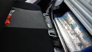 Renault Logan 2. Снять заднее сиденье (часть 2)