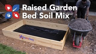 Do My Own Gardening - Raised Garden Bed Soil Mix