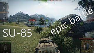 Epic WOT game with SU-85 (7 kills) 1080p60