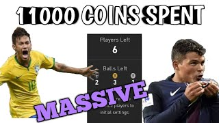 OPENING ENTIRE BRAZIL 50 PACK 11000 Coins Spent PES 2018 Mobile