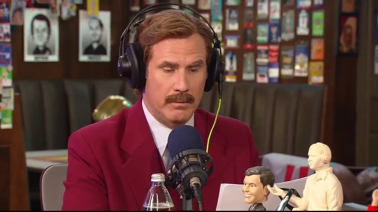 Ron Burgundy Re-Does Great Sports Broadcasting Calls | The Dan Patrick Show | 12/5/13