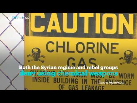 Deaths in Syria due to alleged chlorine gas attack