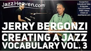 Jerry Bergonzi on RHYTHM: Creating a Jazz Vocabulary Vol. 3 TRAILER MELODIC RHYTHM