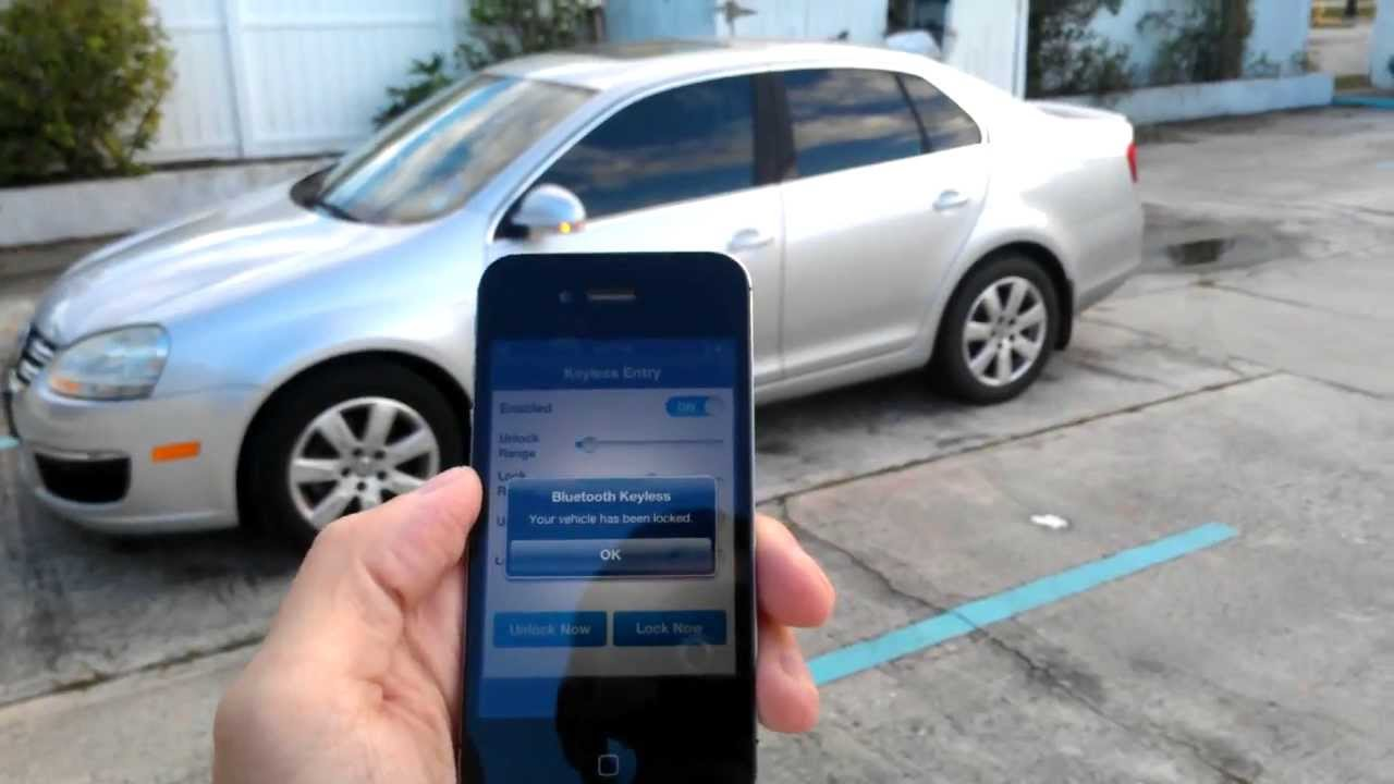 Quick Demo Bluetooth Keyless Premium   Unlock Car WIth Cell Phone   YouTube