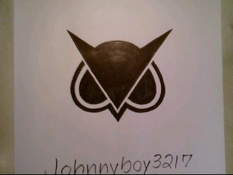 How To Draw Vanossgaming Owl Logo Black Sign Doodle Sketch