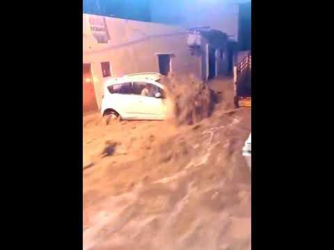 Hyderabad Water flow when raining