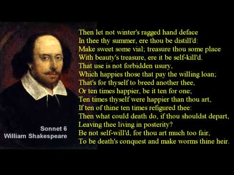 Sonnet 6 ~ William Shakespeare ~ with text