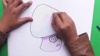 Dibujando Hypno Shroom (Plantas vs Zombies) - Drawing Hypno Shroom